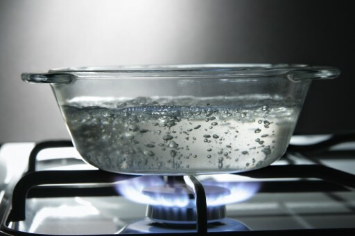 Step 1 - boil water in the stove or microwave.
