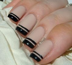 Double- french- tipped manicure