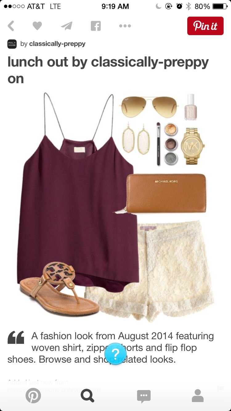 Wear some cute shorts with a simple tank top and as always, accessorize!