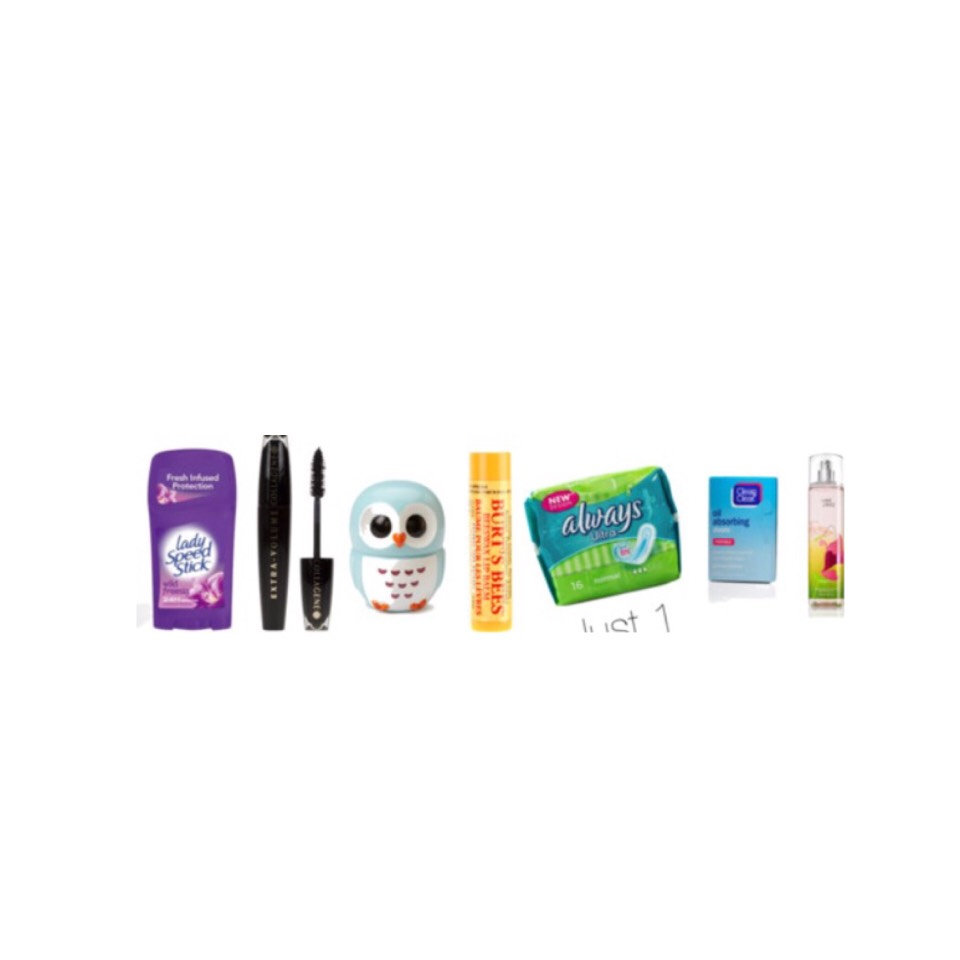 #2: things you will probably need are  •deodorant( for after gym) •if you wear makeup; mascara or any other makeup you wear •lip balm/lipstick  •pads/tampons •mini perfume or body mist
