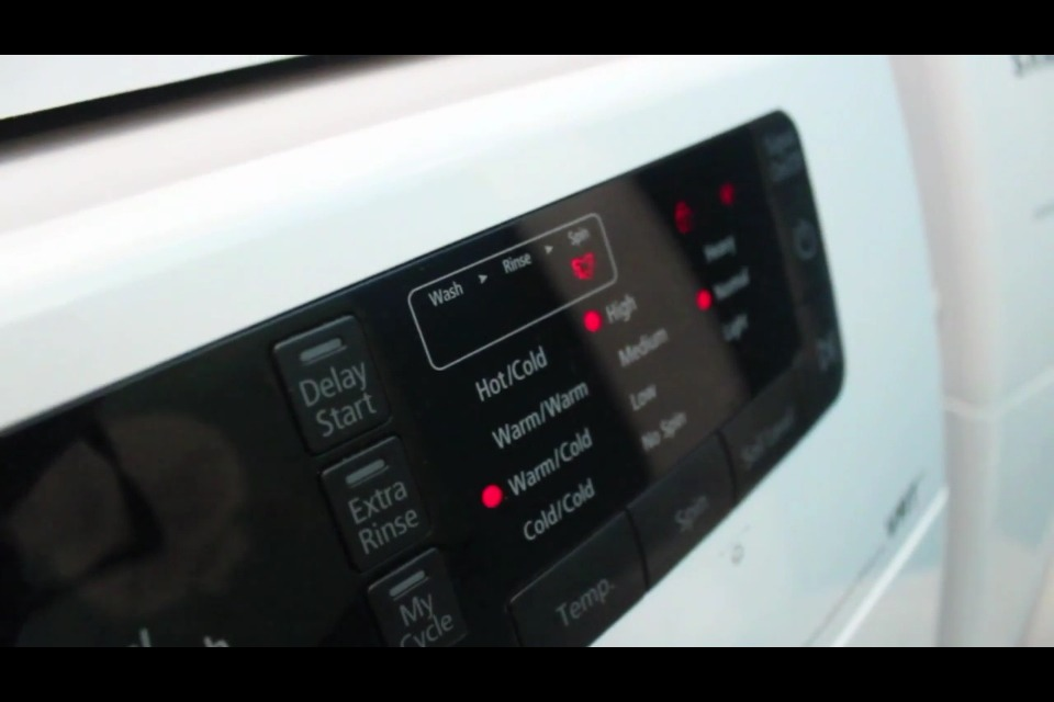 Get a washer with a DELAY START feature so you can set the time when you want your clothes to be washed.  It saves from having to wash clothes left in the washer overnight.