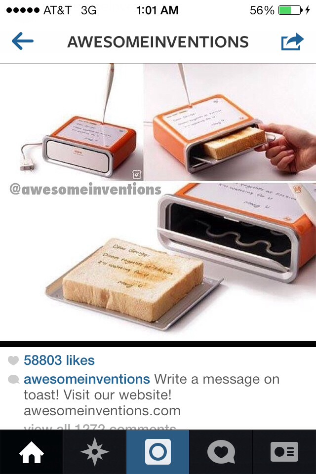 Write on your toast!