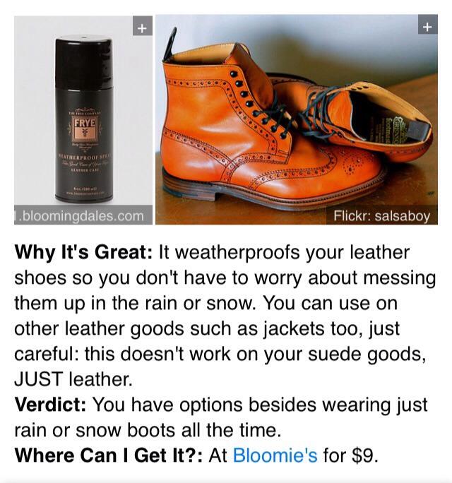 11. Frye Weatherproof Spray