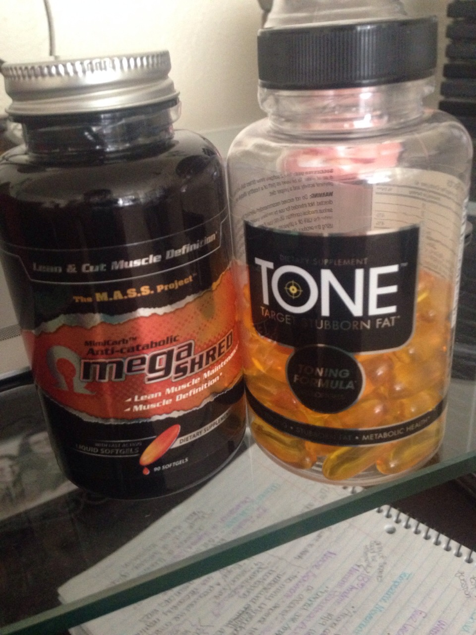 Products courtesy of Complete Nutrition. Take one of each three times daily (within 30 minutes of each meal). The Omega Shred is also a great energy boost!