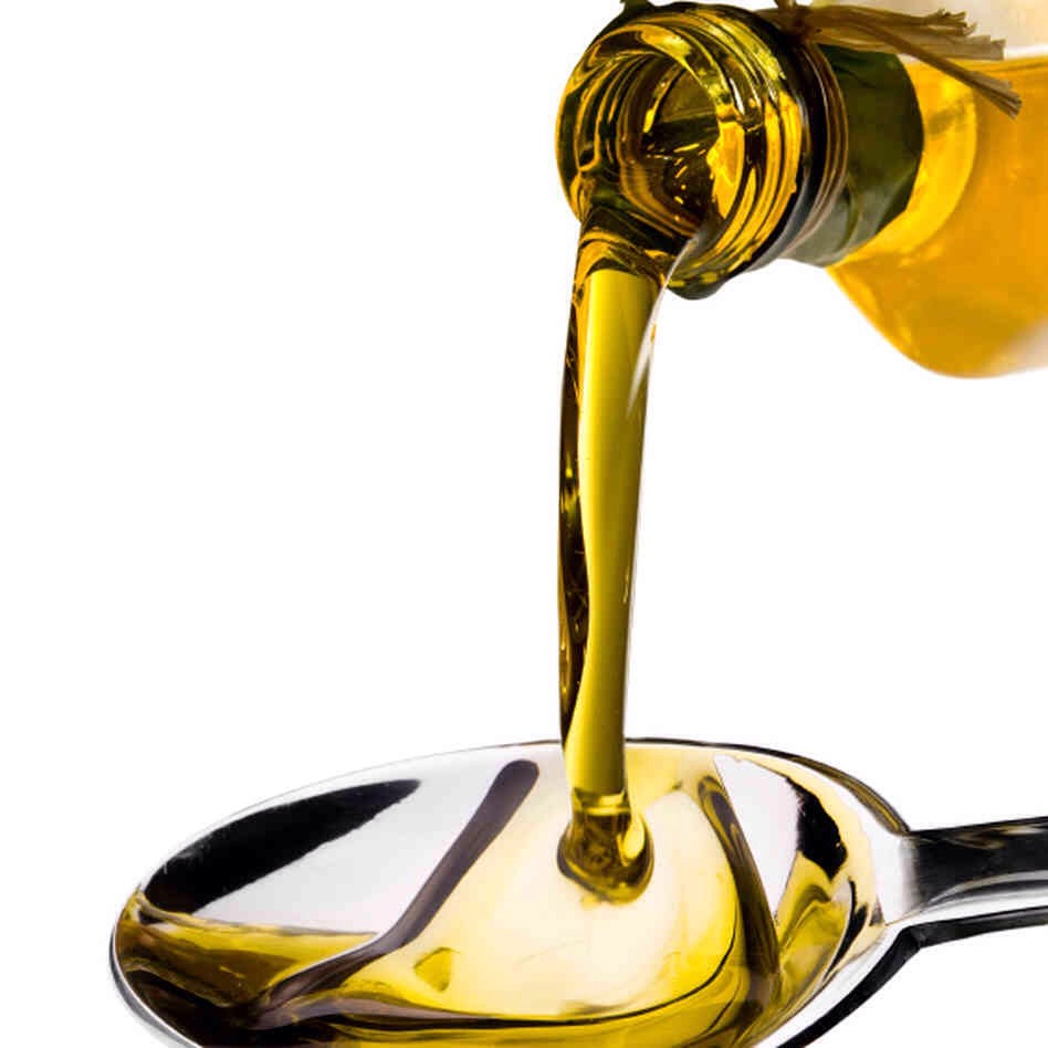 First you'll need some olive oil! Put about 2-3 tablespoons in a small bowl.