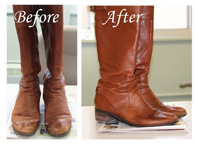11. Use a mixture of vinegar and cold water to scrub water stains off of leather.