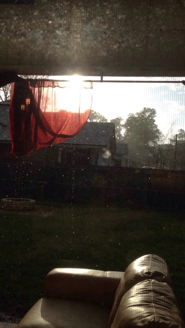 Outside my window, when it was raining with the sun out, beautiful florida ☀️☔️