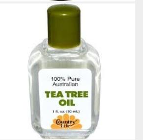 Next get your tea tree oil