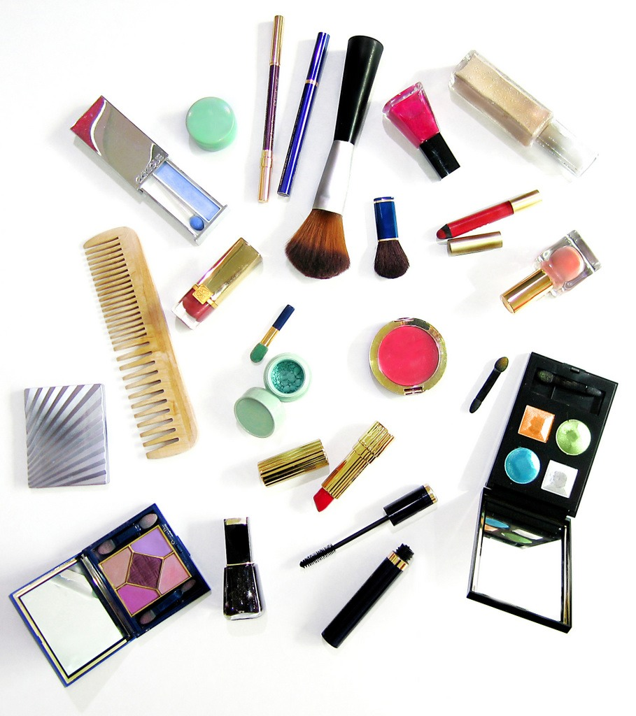 Makeup - NOT ALL OF IT - just a little bit of concealer, mascara, lipstick... Just for touchups if needed