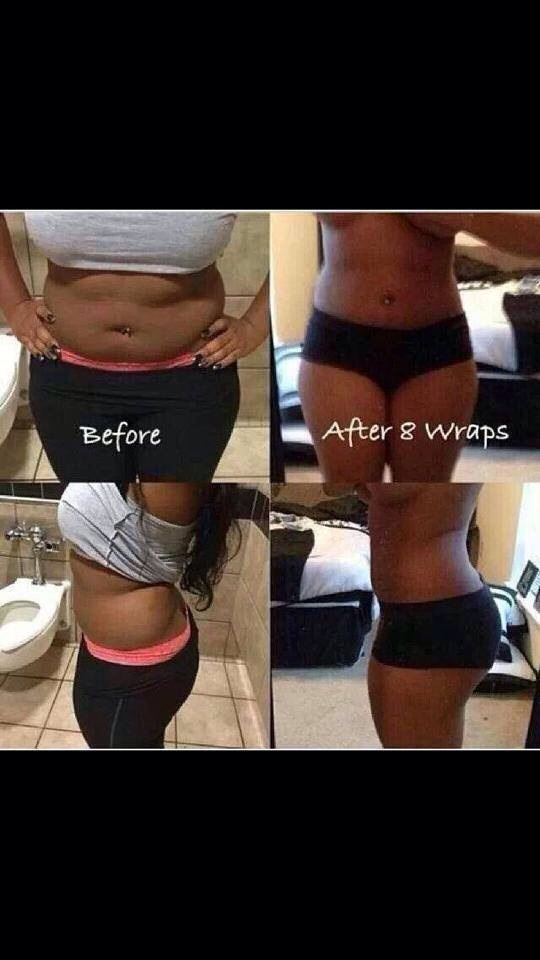 4 wraps is one full treatment and just one box! She did two boxes and got AMAZING results!!   http://trishtightentone.myitworks.com