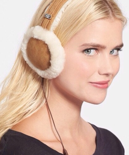 8. Want to listen to some tunes while skiing down that mountain? These Ugg Australia Genuine Shearling Headphone Earmuffs are right on trend and let you listen to your fave songs, too.