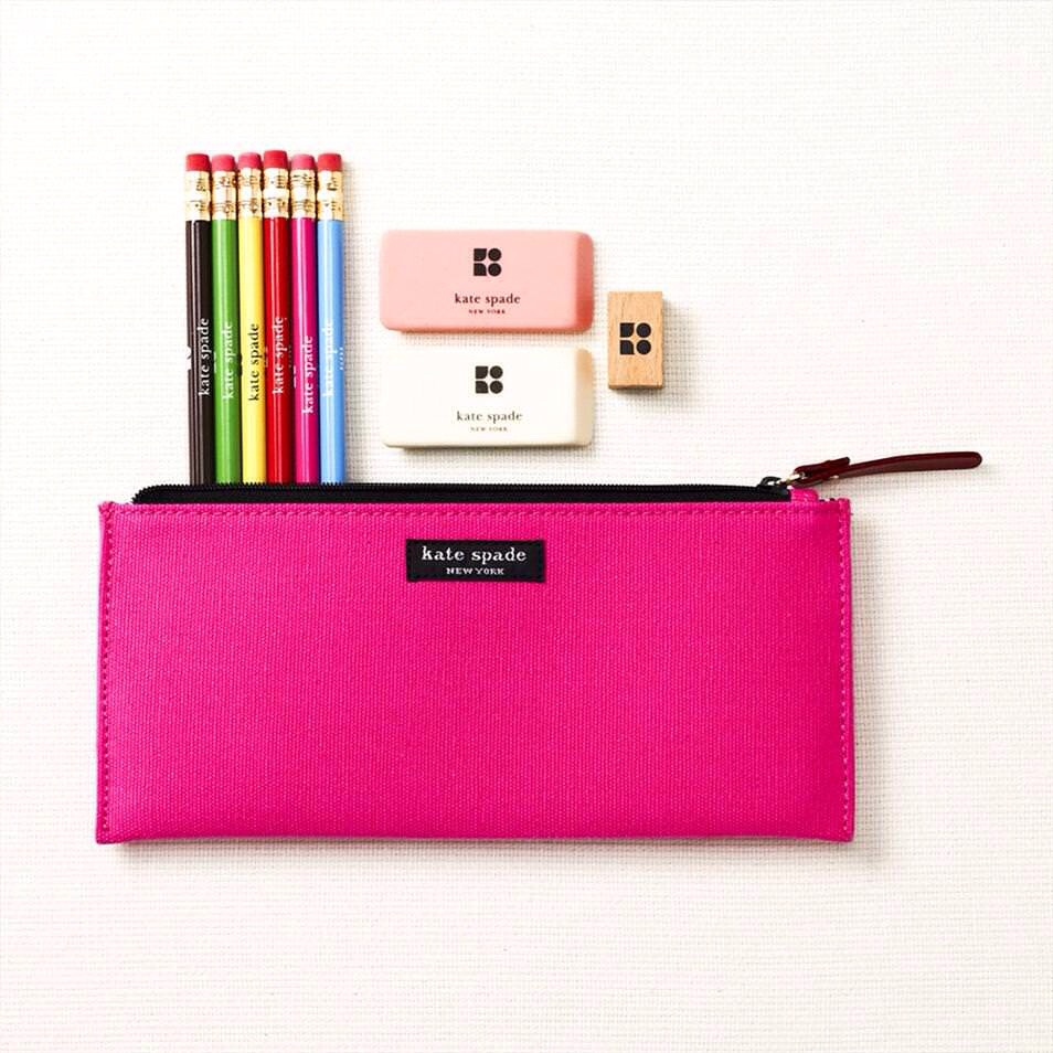 A pencil case helps preventing you from loosing your pens, pencils, highlighters, etc.