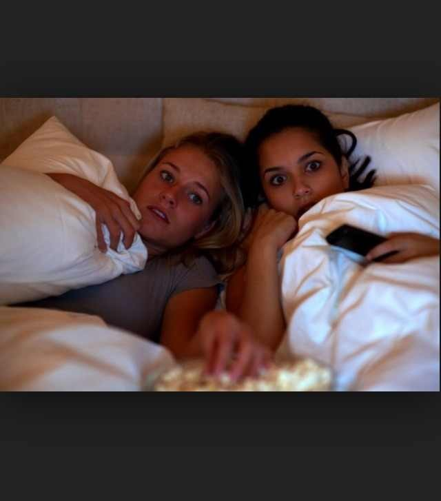 6. Watch movies  Watch a bunch of scary or funny movies!