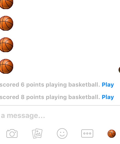 Set the little emoji thing as a basketball ( but first you need to update the app first before you can use it ) , press play....
