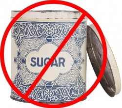 Try to avoid sugar and hidden sugar, eat healthier.