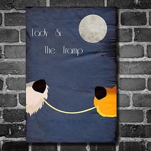 21. Decorate with minimalist Disney movie posters.