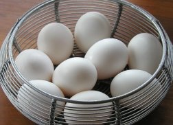 And eggs