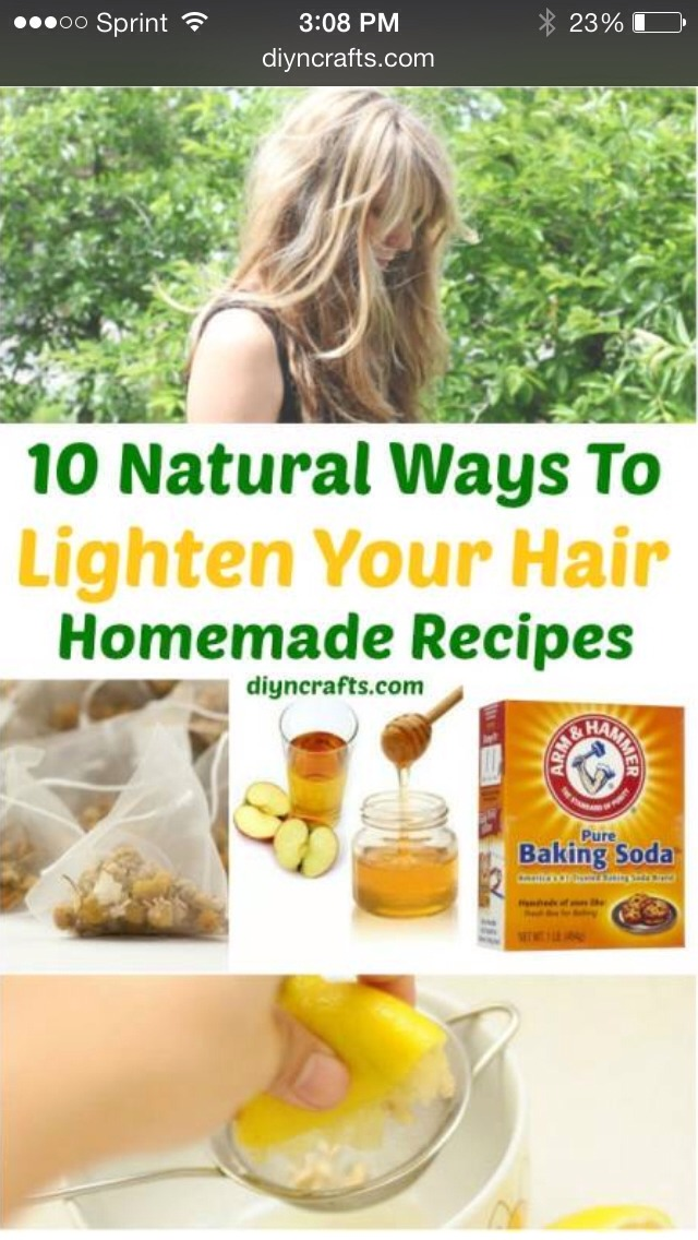 How To Lighten Hair Naturally – Tips And Recipes