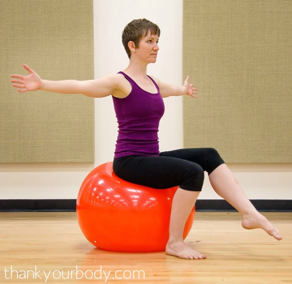 Musely - Replacing office chair with exercise ball ...