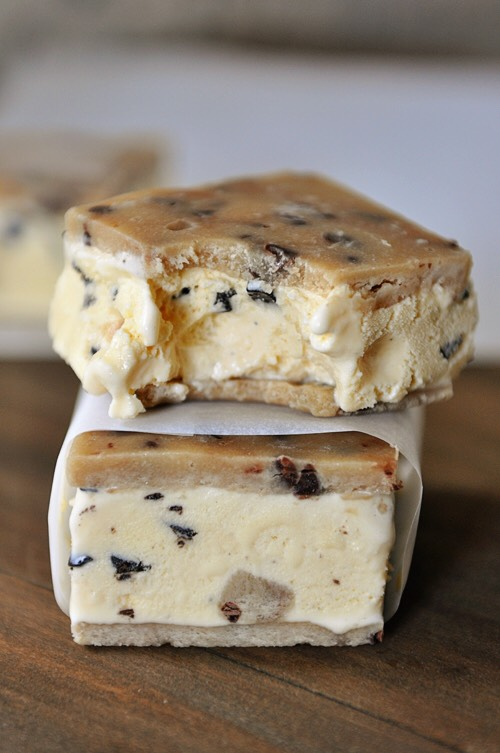 Chocolate Cookie Dough Ice Cream Sandwiches