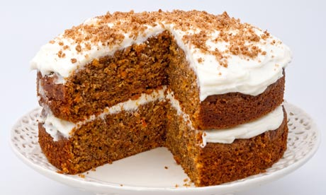 Ingredients:  *4 eggs *1 1/4 cups vegetable oil *2 cup sugar *2 tsp vanilla extract *2 cup all-purpose flour *2 tsp baking soda *2 tsp baking powder *1/2 tsp salt *2 tsp ground cinnamon *3 cup grated carrots *1 cup chopped pecans *1/2 cup butter, softened *4 cup sugar *1 tsp vanilla *1 cup pecans