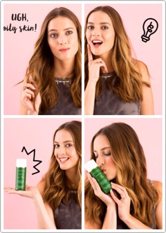 Ifyou have oily skin, then you know the struggle is real. Look no further — add one pump of this green potion to your skin before you apply your makeup, + you'll have that dreamy matte makeup look without any hassle!