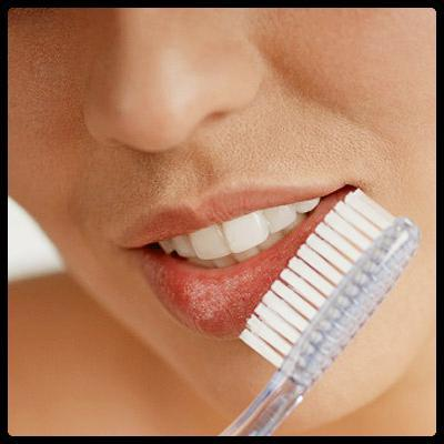 Scrub your lips with an old toothbrush for smoother shiny lips.