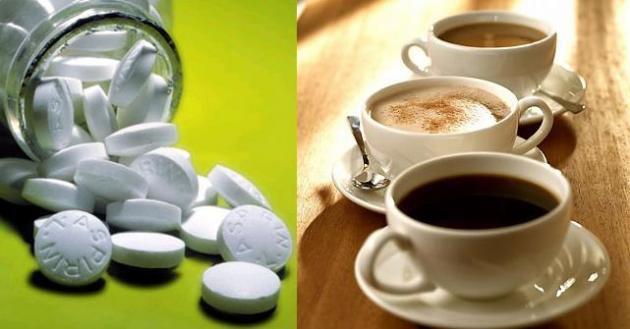 7. Coffee with an asprin