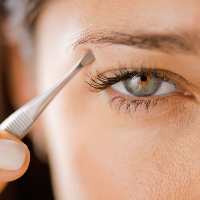 Dark circle tip: You can use your eyebrows to make dark circles less noticeable. Just tweeze your eyebrows so they're more straight across then arched.When they're arched you get a complete circle effect & that exaggerates the dark circles. But it they're straight it de-emphasizes  the circles.
