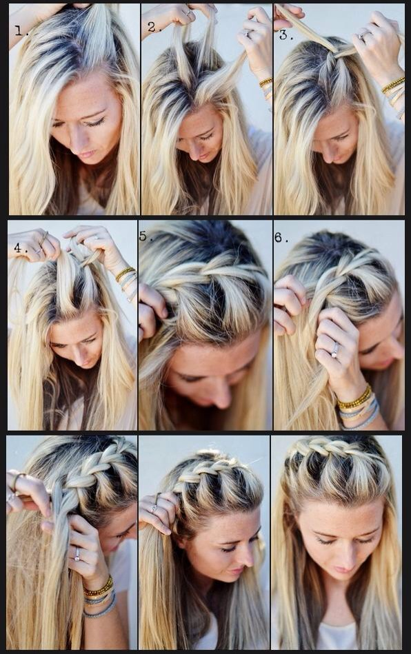 It may look complicated, but once you know the first part, you just repeat it.  It looks great for a nice day out or a party. It is basically just a cute plait down the side of your head💕