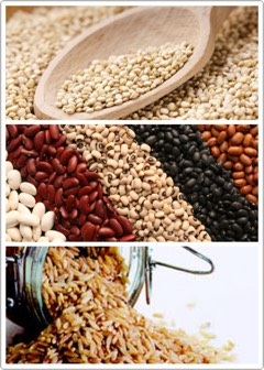COMPLEX CARBS |Processed foods + white flour can increase inflammation +cause acne flair-ups. Replace pasta + white rice with complex carbslike barley,quinoa, beans, +brown rice— foods that are all lower on the glycemic index.