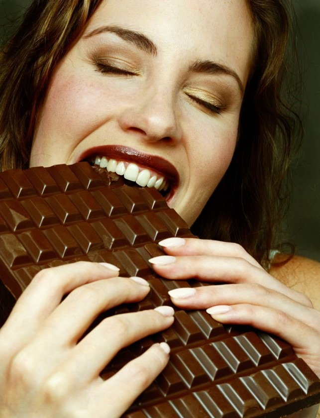 So next time you have cramps have some chocolate!