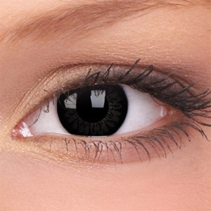 If you want to really go out, put in black eye contacts.