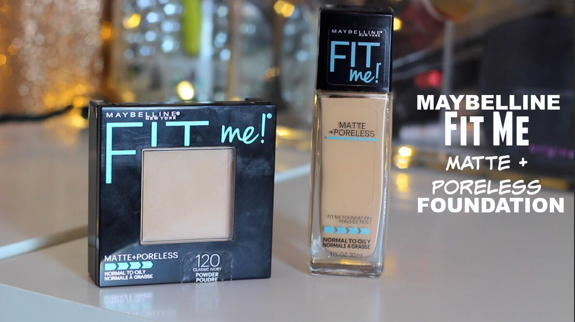 The maybelline fit me matte and poreless foundation! Normal to oily skin! It gives you a matte look 👍