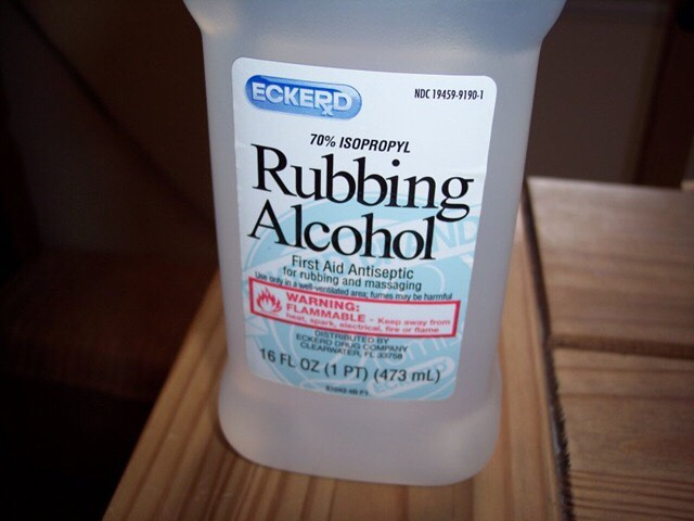 add rubbing alcohol
