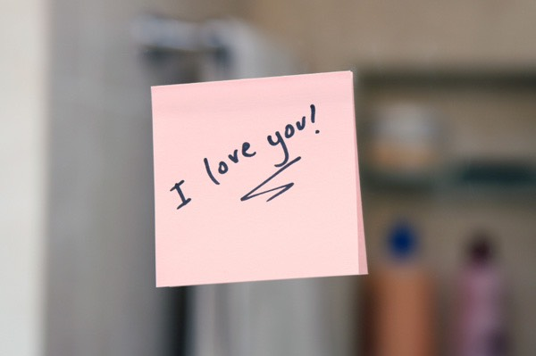 Occassionally write a cute love note and put it somewhere he/she goes everyday, or on a sticky note and place it on something s/he uses everyday!