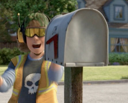 Sid from Toy Story appears again as a garbage man in Toy Story 3.