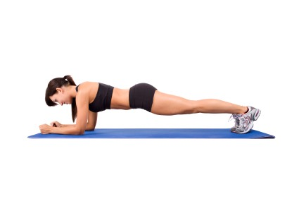 1 minute plank hold (on elbows)