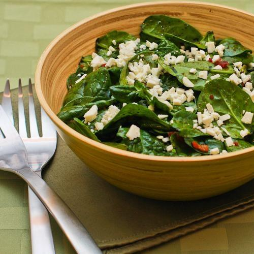 17. Spinach Salad with Bacon and Feta