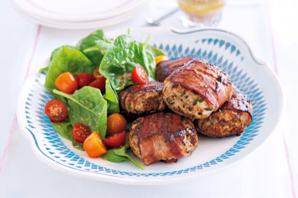 Bacon and herb chicken rissoles