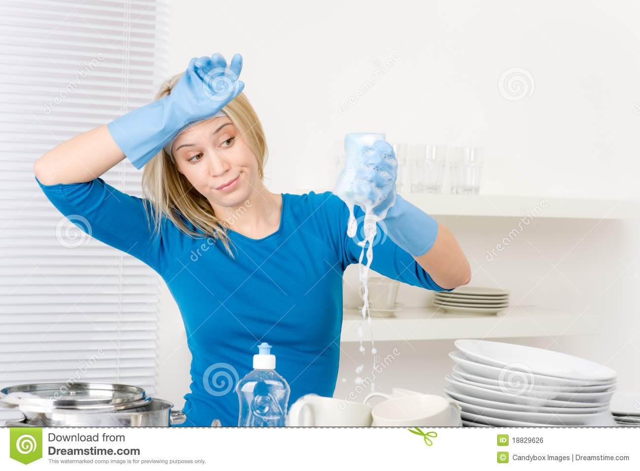 Wash dishes as they're used. If you have a dishwasher, just wait til it is full and run it. Once they are washed, dry them off and then put them away. Then there are never unsightly dirty dishes stacking up everywhere.