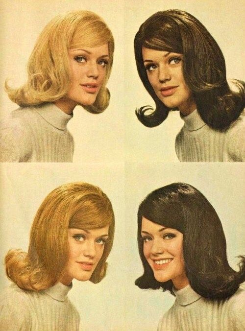 The bouffant was formal. It was hair arranged high on the head with tendrils falling down the sides.