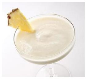 3. Mokeylada: If you like piña coladas, try this lower-calorie version using ripe bananas blended with fresh pineapple and coconut milk. Serve it in festive tropical-drink glasses.