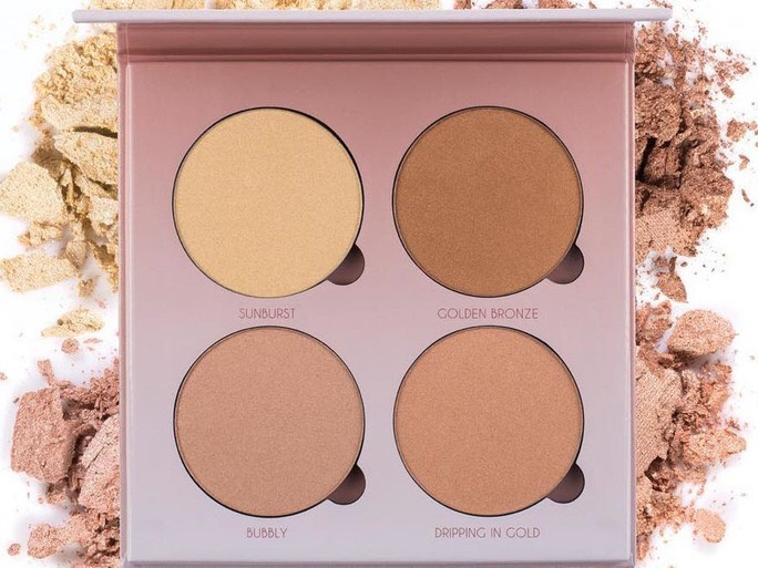 After you finish your makeup and apply concealer and powder , the next step to a luminous glow is a high lighter! My favorite is the Anastasia glow kit