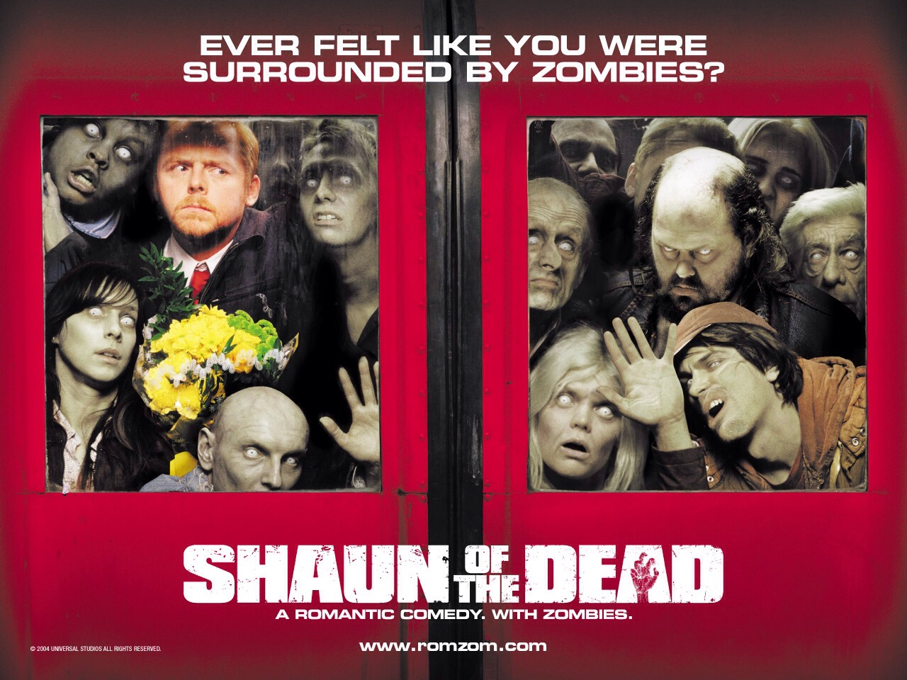 Shaun of the Dead, 2004 zombie comedy film. Had me in Tears I was laughing so hard 😂😂😝starring Nick Frost, Simon Pegg, Kate Ashfield, Martin Freeman, Lucy Davis and Dylan Moran. So funny!!! Nick and Simon at their best!!!!! 😂😂😂 not suitable for people who don't like gore