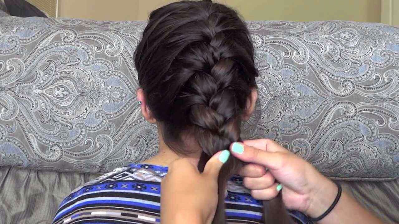 First,wash your hair and let it air dry for an hour to an hour in a half.You don't want your hair completely dry but just a little wet,then French braid your hair in a tight braid.