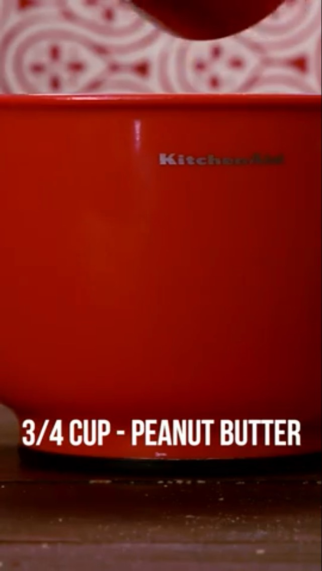 Add 3/4 cup of peanut butter 🍬