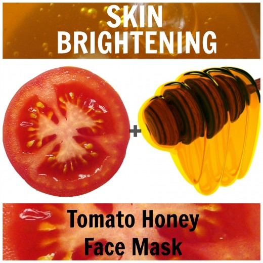 1) Ingredients: 1/2 ripe tomato, 1 tablespoon honey