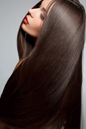Washing your hair with cold water gives yore hair a glossy shine to it and makes it looks silky