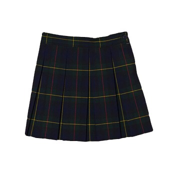 Plaid schoolgirl-esque skirts